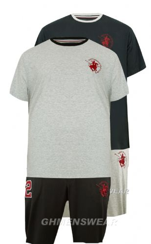Santa Monica Polo Club  Shorts & Tee Pyjama/Lounge Set